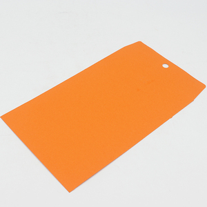 Orange kraft clasp envelope